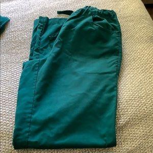 Women's Greys Anatomy Green Scrub Pants XS